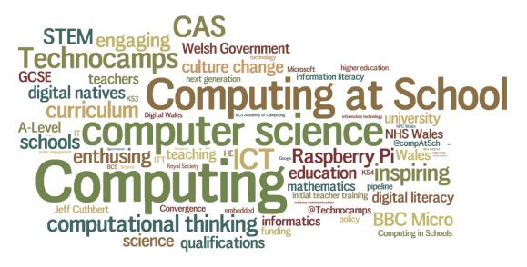 CAS Wales 2011 Wordle
