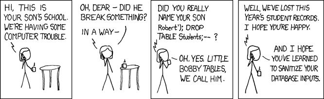 Little Bobby Tables – Digital, Data & Policy