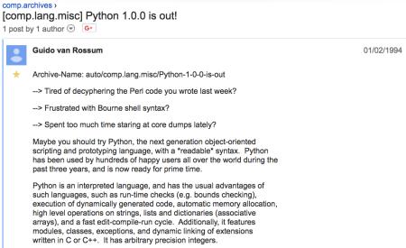 25 Years of Python!   In the Dark