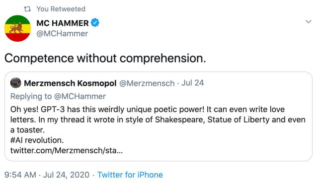 MC Hammer tweet